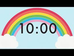 10 Minuite Timer 10 Minute Countdown Rainbow Timer