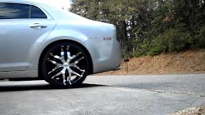 2008 Chevy Malibu lowered on 20 inch rims - YouTube