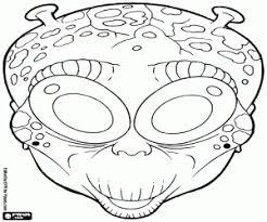 Kleurplaten Halloween Maskers Kleurplaat