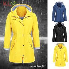 women jacket winter rain zipper waterproof windproof long 2018 plus size las chamarra cazadora mujer coat