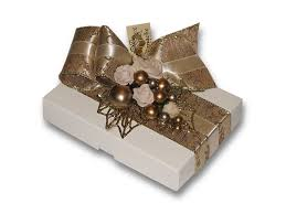 Decorative Chocolate Boxes Chocolate Box White Gold Cream Decoration Panache 2