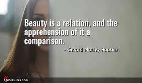 Beauty Comparison Quotes Best of Explore Gerard Manley Hopkins Quotes QuoteCites
