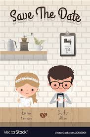 Save The Date For Wedding Couple Coffee Wedding Save The Date Invitation