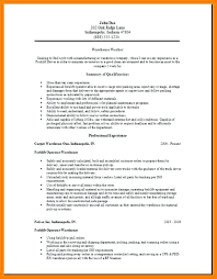 Warehouse Resume Templates Delectable Warehouse Resume Templates Warehouse Resume Samples Warehouse Resume