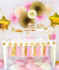 Decorative Stars For Parties Twinkle Twinkle Little Star First Birthday Party In A Box