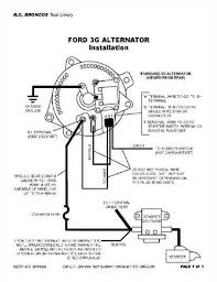 ford alternator wiring diagram internal regulator ~circuit diagram ford voltage regulator wiring diagrams