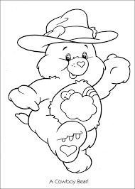 Small Picture care bears coloring pages to print Care Bears cowboy coloring