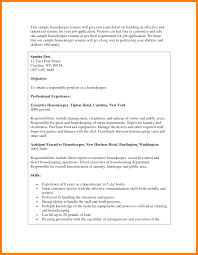 6 Housekeeper Resume Objective Informal Letters Summary 16