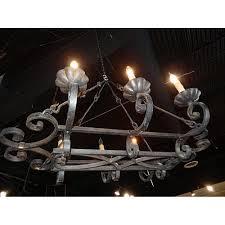 rectangular french iron chandelier