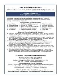 Resume Examples For Human Resources Position Human Resources Resume Examples EssayscopeCom 17