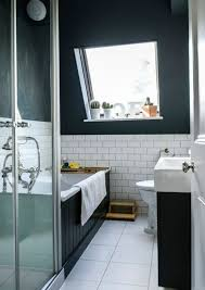 black wall color and white tile floor paint color ideas for small bathroom ideas