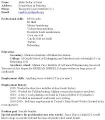 Fill Out Resume Yes A Terrorist Like Any Other Employment Seeker Must