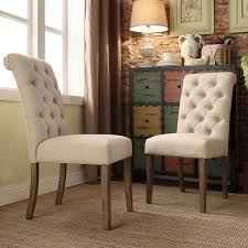 upholstered tufted dining room chairs