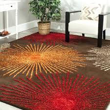 brown orange green area rug kubu red