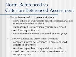 criterion referenced assessment chapter 1 assessment in elementary and secondary classrooms ppt