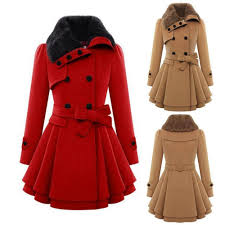 2018 winter women wool blends coat cultivating solid color long section thicken overcoat double ted las woolen coat with belt from wp763236273