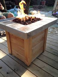 build a gas fire pit table