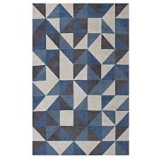 blue and white rugs geometric triangle mosaic area rug in blue white and gray blue and