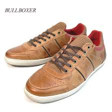 import cowhide punching leather sneakers leather shoes real leather shoes light brown bulldog boxer made in bullboxer portugal