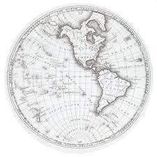 round world map canvas wall decor