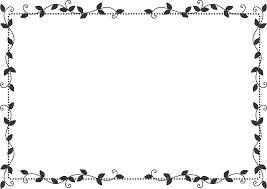 枠イラスト飾り枠葉デザイン無料イラスト素材