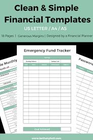 Planner Financial Budget Printable Budget Planner