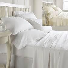 100 egyptian cotton 400 thread count ed sheet white cream