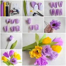 How To Make A Beautiful Flower With Paper How To Make Beautiful Crepe Paper Flowers Icreativeideas Com