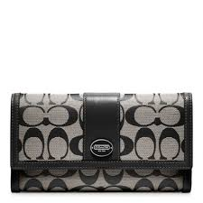Lyst - Coach Legacy Signature Checkbook Wallet in Gray