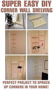 Do It Yourself Corner Shelves Cool How To Build Simple Corner Wall Shelving Yourself DIY
