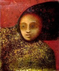 mujer vestido de oro Jose Jorge Chavez Morales - Artelista.com - 3246089228871816