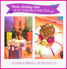 a white fondant cake gets decorated for a circus themed birthday cake with colorful accents