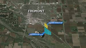 chicken plant site be southeast of fremont