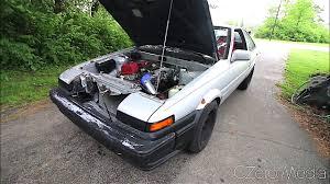 Driving Around In Toyota AE86 Powered By Honda S2000 Engine ...