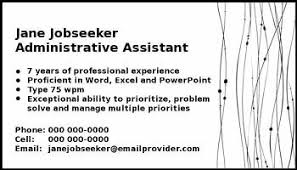 Calling For A Job Personal Calling Cards For Job Search Networking