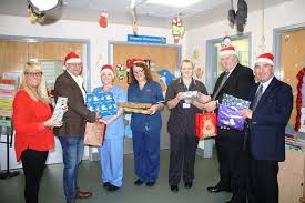 blackpool round table members donate presents to young patients