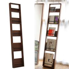 Wooden Book Stand For Display Magazine rack wall hangings slim wooden North Europe fashion 36