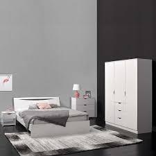 Hochglanz Schlafzimmer Set Volini In Weiß Modern Pharao24de
