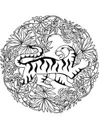 Disegno Di Mandala Tigre Da Colorare Disegni Da Colorare E