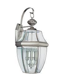 8040 965three light outdoor wall lanternantique brushed nickel with regard to lights decor