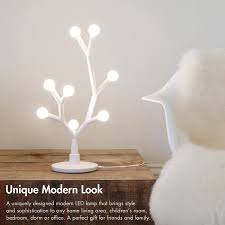 lumi bloom modern table lamp 8w 750lm led diy nightstand lamp transformable for hundreds possible shapes with 8 bulbs for living room
