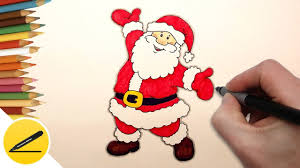 christmas santa drawings. Unique Christmas How To Draw Santa Claus Step By Easy  Christmas Drawings  With Drawings R