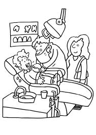Coloring pages for kids dental coloring pages (dentists, teeth and tooth care). Coloring Page Dentist Img 7143 Dental Health Teeth Health Dentist