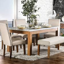 Shop Furniture Of America Aralla Ii Industrial Style Dining Table
