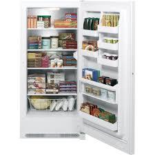 Ge Upright Freezer Manual Fum21dhrwwge 209 Cu Ft Manual Defrost Upright Freezer White On