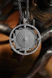 shri yantra silver hand made pendant