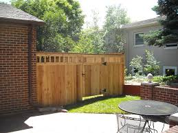 Small Picture Exterior Calm Wooden Fence Design For Your Backyard Combine With