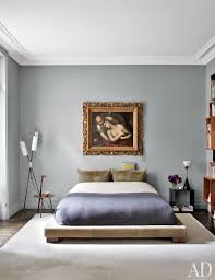 gray wall color for bedroom. while fashion designer stefano pilati\u0027s paris duplex is bursting with color and a treasure trove of gray wall for bedroom |