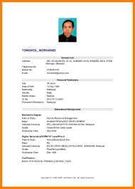 Sample Resume Fresh Graduate Of Education Resume Ixiplay Free