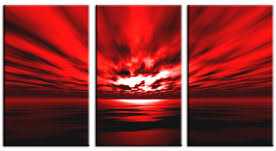 awesome skyline large oil painting amazing pictures artwork red canvas wall art ocean seascape image three on wall art red with wall art elegance design for red canvas wall art canvas art with